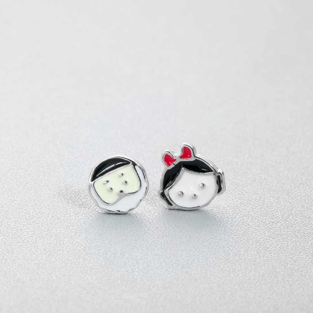 Cxwind dos desenhos animados esmalte coelho brinco menino menina animal abelha flor cão parafuso prisioneiro brincos para mulheres senhora coreano minimalista jóias