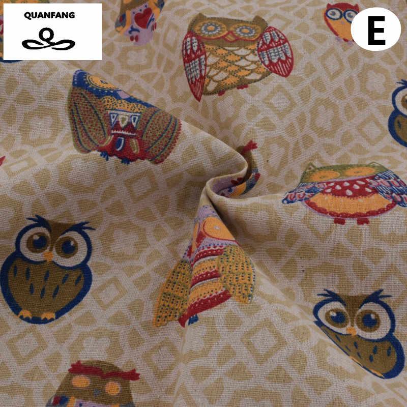 Materiais de algodão de Linho Tecido Patchwork Para Costura Costura Tecido De Almofada Throw Pillow Sofá Capa em Tecido Bonecas Sacos Tecidos