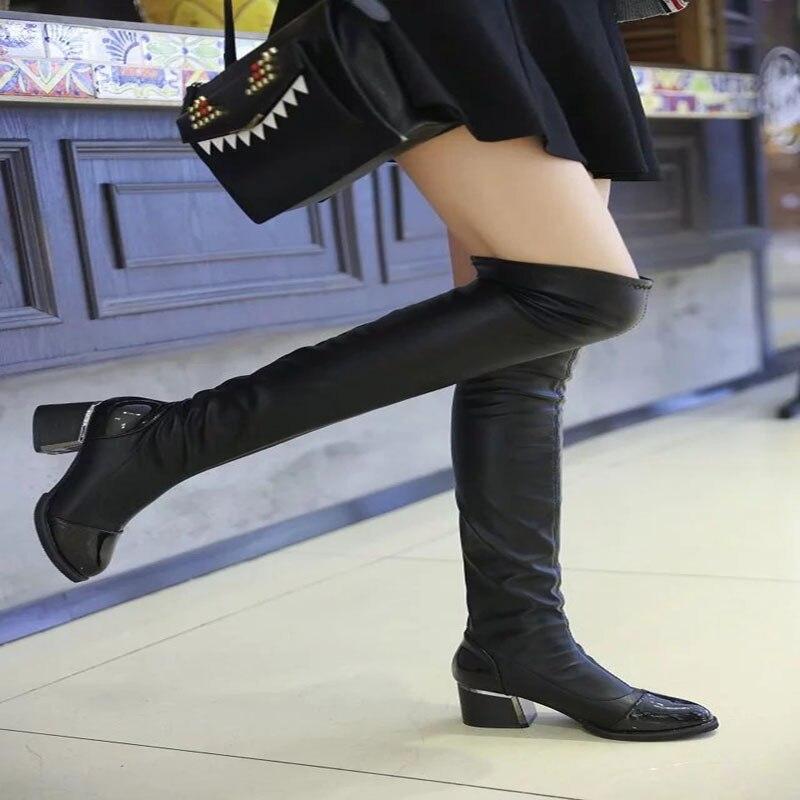 Commit skinny legs high heels share