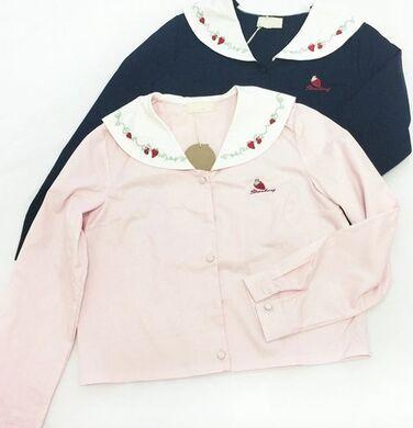 Princesa abrigo lolita dulce caramelo lluvia primavera estilo de la universidad de color rosa lindo collar de Peter Pan patchwork chaqueta de invierno de algodón mujeres coat