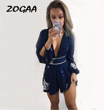 ZOGAA Backless Bohemia Flora Print Dress Women Big V-neck Loose Fit Butterfly Sleeve Sexy Party Female Beach Dresses