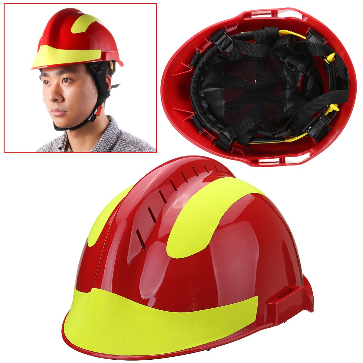 53CM-63CM Safurance Rescue Helmet Fire-Fighter Protective Glasses Safety Protector Workplace Safety Fire-Protection fire maple sw28888 outdoor tactical motorcycling wild game abs helmet khaki
