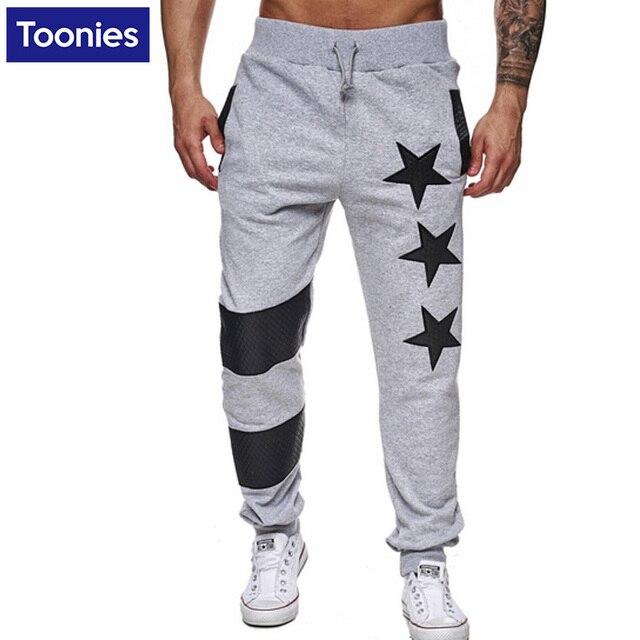 cb1cf7295 Casual Sportswear Pants Men's Sweatpants Men Street Hip Hop Full Length  Trousers Brand Clothing Black Grey