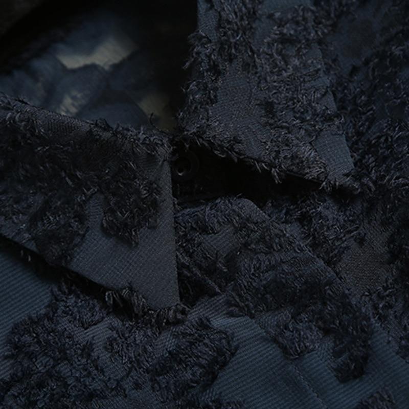 Plus L'europe Manches Nouveau La Shirt 2018 Et Mousseline Longues Blusas De Printemps Chemisier Noir En bleu Taille Soie Lâche Été Tops Femmes xOTxAw