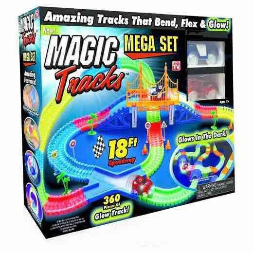 360pcs/lot Magic Tracks Super Fun Toy Bend Flex Glow in the Dark with Bridge and 2 pcs LED Cars DIY Racing Set mary pope osborne magic tree house 39 dark day in the deep sea
