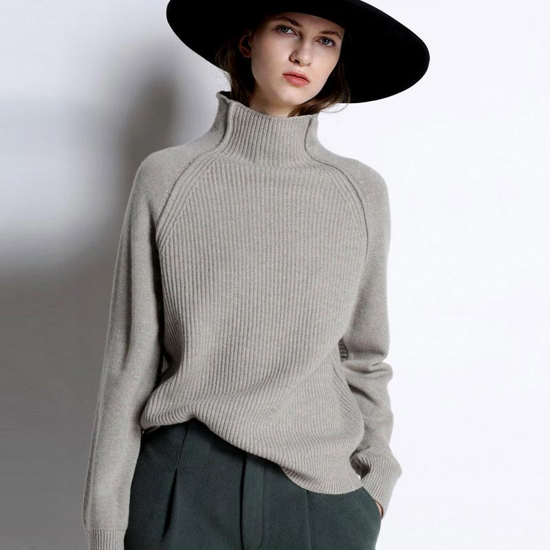 Winter Loose Sweaters Fashion 2019 Women Autumn Thick Cashmere Turtleneck Sweater Female Long Sleeve Warm Knitted Pullovers Tops