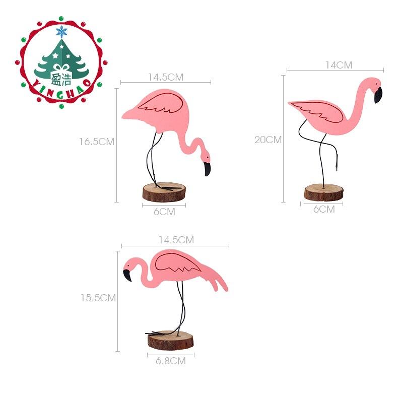 inhoo 3pcs Ροζ Flamingo Διακόσμηση DIY - Προϊόντα για τις διακοπές και τα κόμματα - Φωτογραφία 2