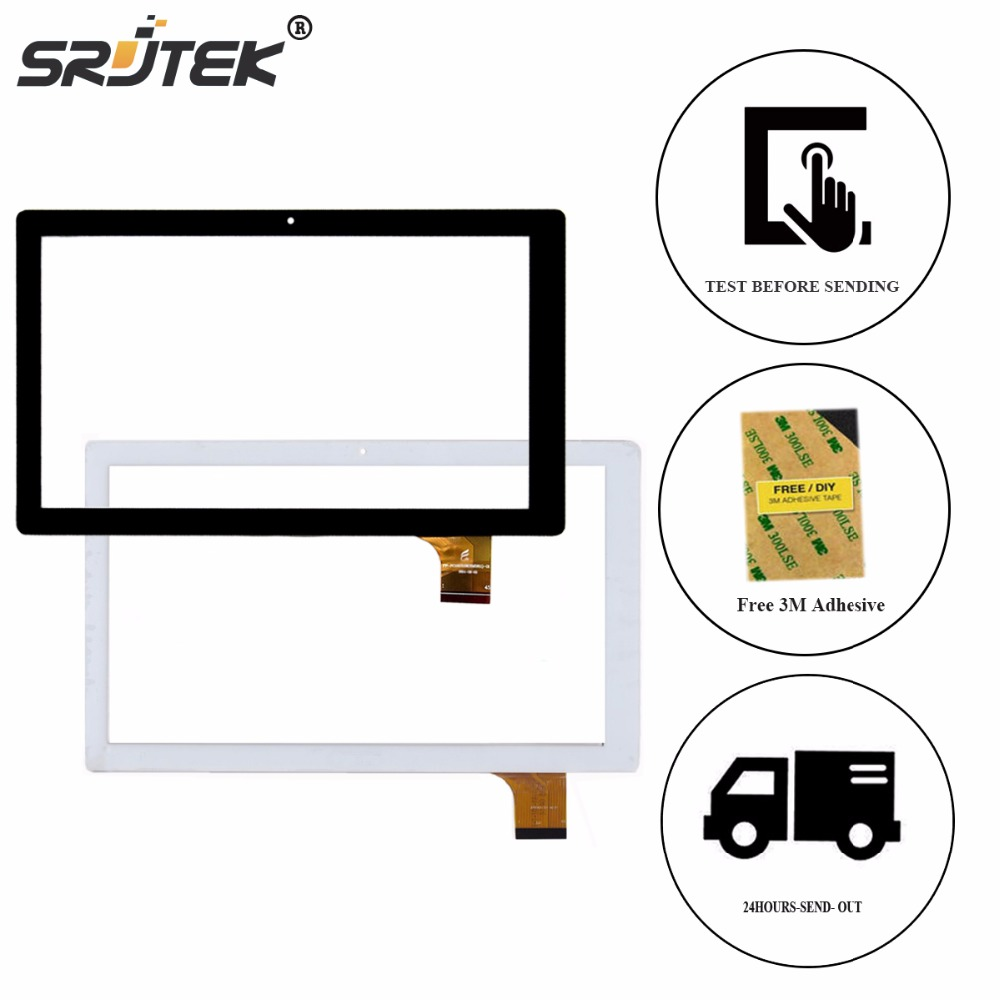 Srjtek 10.1 for Archos 101D Neon HXD-1014A2 Capacitive Touch Screen Digitizer Touch Panel Glass Sensor Tablet Replacement Parts replacement lcd digitizer capacitive touch screen for lg vs980 f320 d801 d803 black