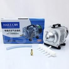 45L/min 55L/min 70L/min HAILEA elektromagnetyczna sprężarka powietrza akwarium pompa powietrza tlenu hydroponika 6 Way Air pompa