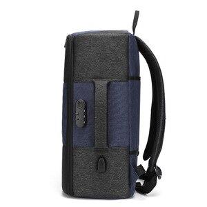 Image 2 - Мужской рюкзак BAIBU, многофункциональный водонепроницаемый рюкзак с защитой от кражи, 17 дюймов, USB, для ноутбука