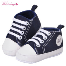 Fashion Infant Toddler Canvas Crib Shoes Baby Boys Girls Sne