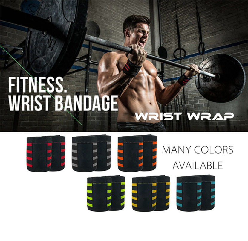 A Pair Wrist Wrap Professional Grade With Thumb Loops Wrist Support Braces for cycling gloves
