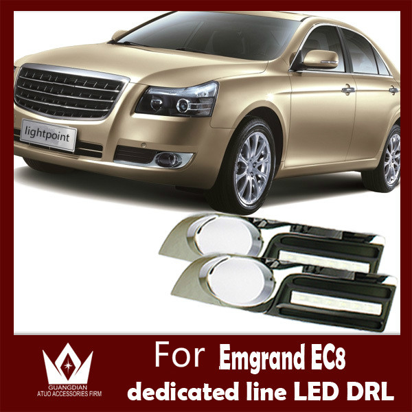 Guang Dian  For Emgrand EC8 Daytime Running Lights LED Daylight DRL 4S Shop Auto Car Fog Lamp CE EMARK guang dian car lights 3w new eagle eye lamp led for daytime running light drl lamp fog light waterproof do licence back up