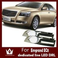 Guang Dian For Emgrand EC8 Daytime Running Lights LED Daylight DRL 4S Shop Auto Car Fog Lamp CE EMARK