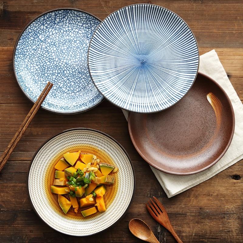 1pc Japanese Traditional Ceramic Dinner Plate Porcelain