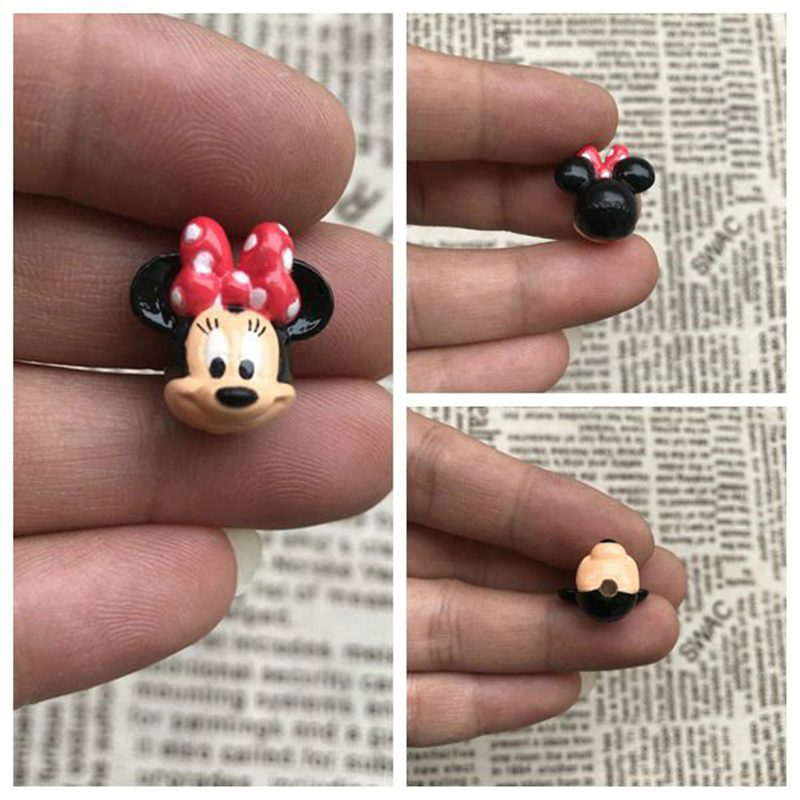 60piece 2cm the minnie mouse head very small figure toys minnie mouse collection figure toys