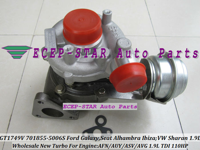 GT1749V 701855 701855-0006 701855-0004 701855-0002 Turbo For Ford Galaxy For Volkswagen VW Sharan AFN AUY AVG ASV 1.9L TDI 110HP футболка babycollection футболка