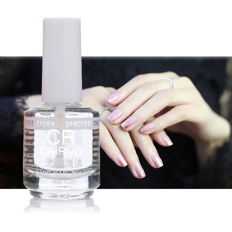 Nail Polish Protective Lasting Protection Quick Drying Gloss Crystal Care Oil Enhance Brightness Increase Flash In Multi Use Top Base