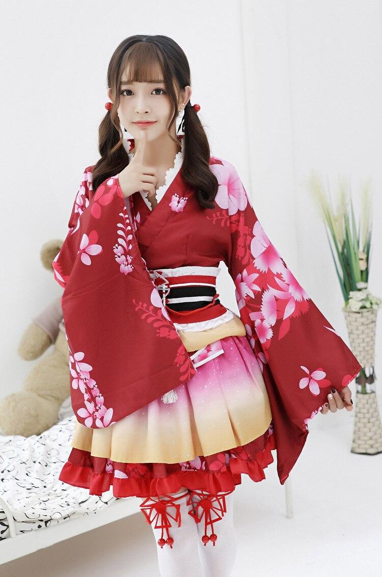 Millyn Love Live Maki Cosplay lovelive vestido adulto impreso kimono ...