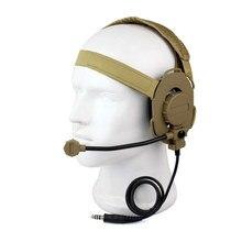 Z тактическая Боуман Elite II Гарнитура для рации HD-03 желтый Цвет для Портативный ветчиной двухстороннее радио Аксессуары C2129Y