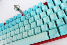 87 keys Rainbow OEM Profile Keycaps  Cherry MX switch PBT Keycaps Radium valture Side-printed Keycaps for Mechanical Keyboard