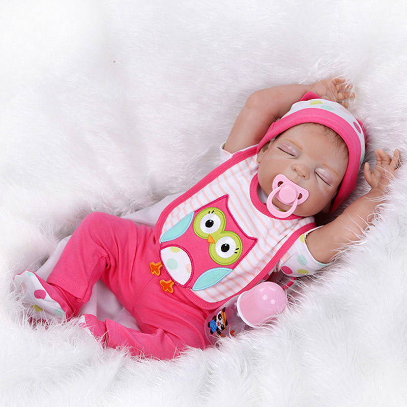 Full Silicone Vinyl Reborn Baby Doll Realistic Girl Babies Doll 22Inch 57cm Lifelike enter water Kids Toy Children Birthday Gift can sit and lie 22 inch reborn baby doll realistic lifelike silicone newborn babies with pink dress kids birthday christmas gift