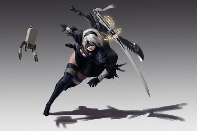robot ken anime sword girl nier automata blade guardian warrior