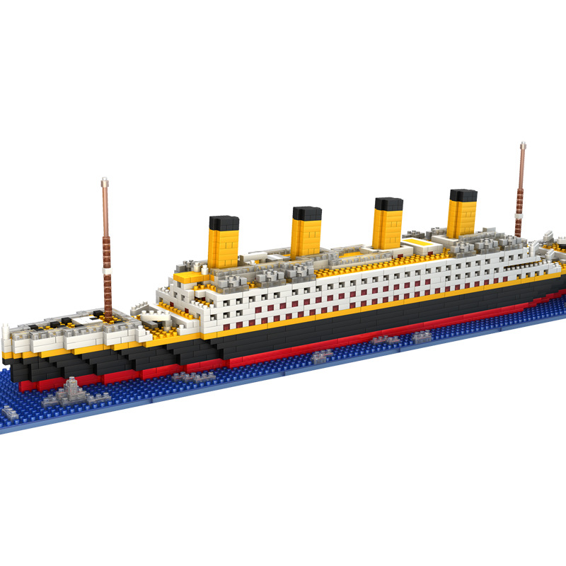 1860pcs RMS titanic Model large cruise Ship/boat diy Building Diamond Blocks classics Toy exhibition/collection Gift for kids