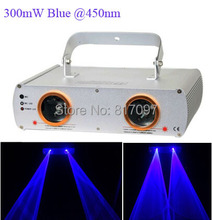 2 head 300mW Blue stage laser lighting projector disco lights professional stage lighting DMX Party Disco DJ Wedding Pub Bar