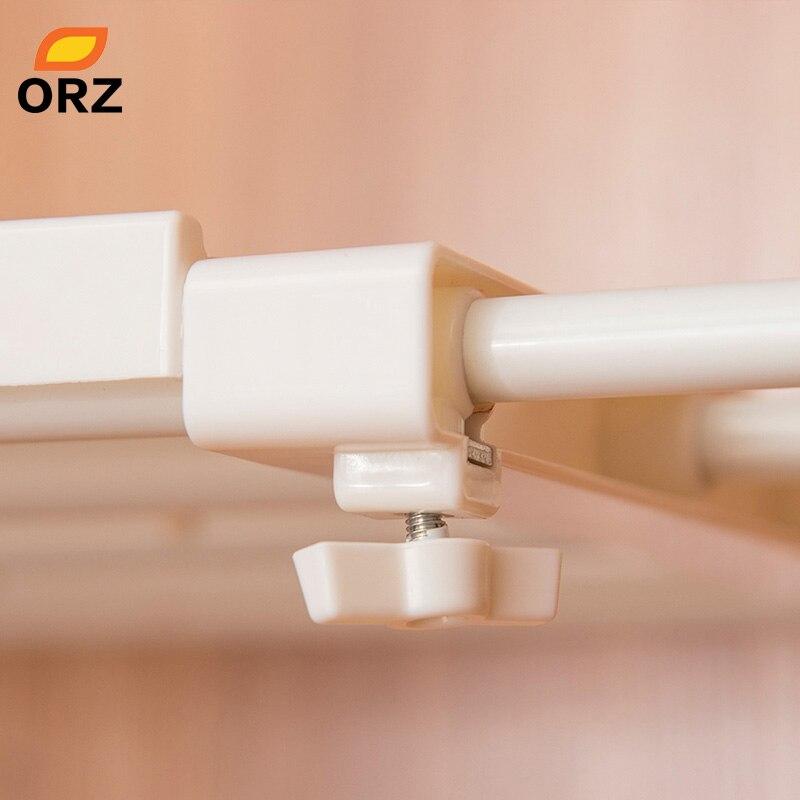 Image 5 - ORZ Retractable Closet Organizer Shelf Adjustable Kitchen Cabinet Storage Holder Cupboard Rack Wardrobe Organizer Bathroom Shelf-in Storage Holders & Racks from Home & Garden