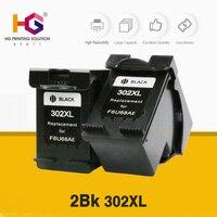 remanufactured ink cartridge for hp 302xl 302 2 black for Deskjet 1110 2130 1112 3630 3632 3830 Officejet 4650 4652 Printer ink