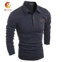 Polo Shirt Men S Casual T Shirt Fashion Long Sleeve Solid T Shirts Camisa Masculina Tshirt
