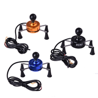 Universal 3 5 6 Inch 9 30V Motorcycle Cell Phone GPS Mount Holder X Grip Clamp