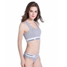 Women Bra Sets underwear Cotton comfortable lingerie Vest Seamless 2018 new Sexy women Thong suit Stretch Briefs Bras Sets