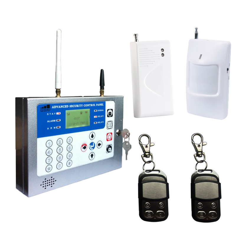 SMS Security Alarm Wireless GSM Home Smart System Android APP Quad Band Remote Monitoring Control+PIR Sensor Door detector S120 fuers quad band gsm pstn burglar alarm security system wireless app control high grade door sensor motion detector home alarm
