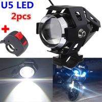 Motocicleta fora de estrada veículo modificado faróis led holofotes u5 superior baixo feixe moto lâmpada de ponto|  -