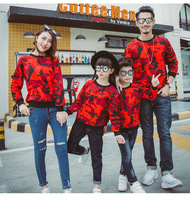 Family Matching Clothes Christmas Clothes Camouflage Sweater Mother Daughter Father Son Clothes Winter Print Cotton T