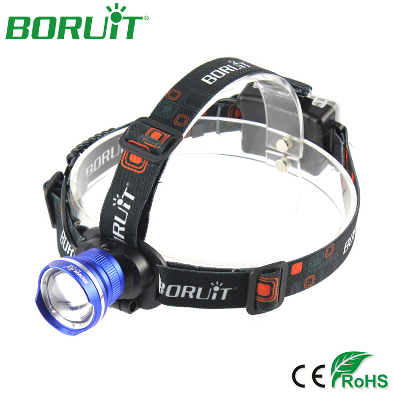 BORUiT XML T6 LED Headlamp Zoomable Flashlight 3 Modes Portable Camping Hunting Headlight Waterproof Head Torch Light Lantern купить дешево онлайн