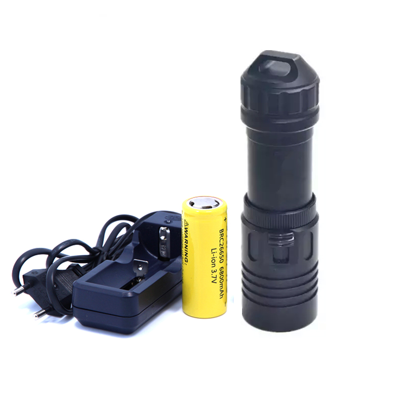 New high-quality X1 2000 Lumens Cree XM-L2 LED Diving Flashlight Torch 100M Underwater Waterproof  + 26650 Battery + Charger alonefire x160 cree xm l2 led flashlight high power lighting flashlight torch with 26650 battery charger