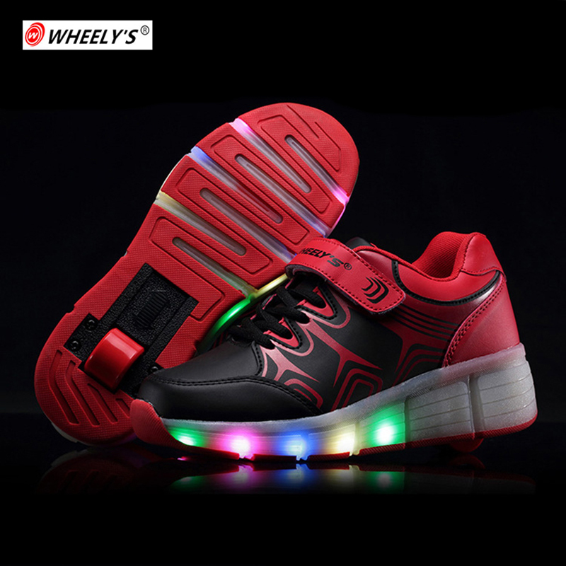 Kids Roller Skate Shoes LED light up Children Glowing Shoes with Wheels Girls Glowing Sneakers for Boys Sneakers tenis infantil