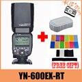 Yongnuo YN600EX-RT YN600EX RT Radio TTL de Flash Inalámbrico Speedlite HSS 1/8000 Para Canon Camera + 12 unids tarjetas de color