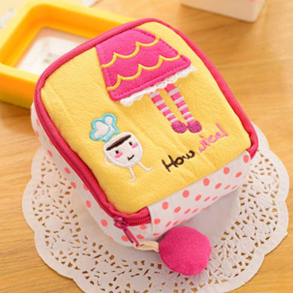 New Girl/Women Napkins Organizer Storage Hold Sanitary Napkin Bag Case Cartoon Easy Small Articles Zipper Catton Gather Pouch