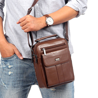 100 Fashion Genuine Leather Men Bags Small Shoulder Bag Men Messenger Bag Crossbody Leisure Bag