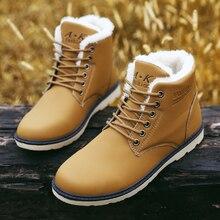 2016 Haute Qualité Hiver Bottes Hommes Cheville Bottes Dr Fourrure en cuir Martin Bottes de Neige Hommes Occasionnels Chaussures chaussure homme botas hombre
