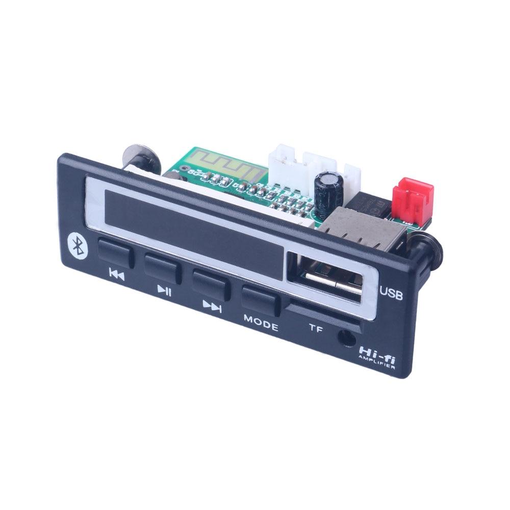 Bluetooth 5,0 MP3 WMA WAV декодер плата 5 в 12 В беспроводной аудио модуль цветной экран USB TF FM радио для автомобиля аксессуары