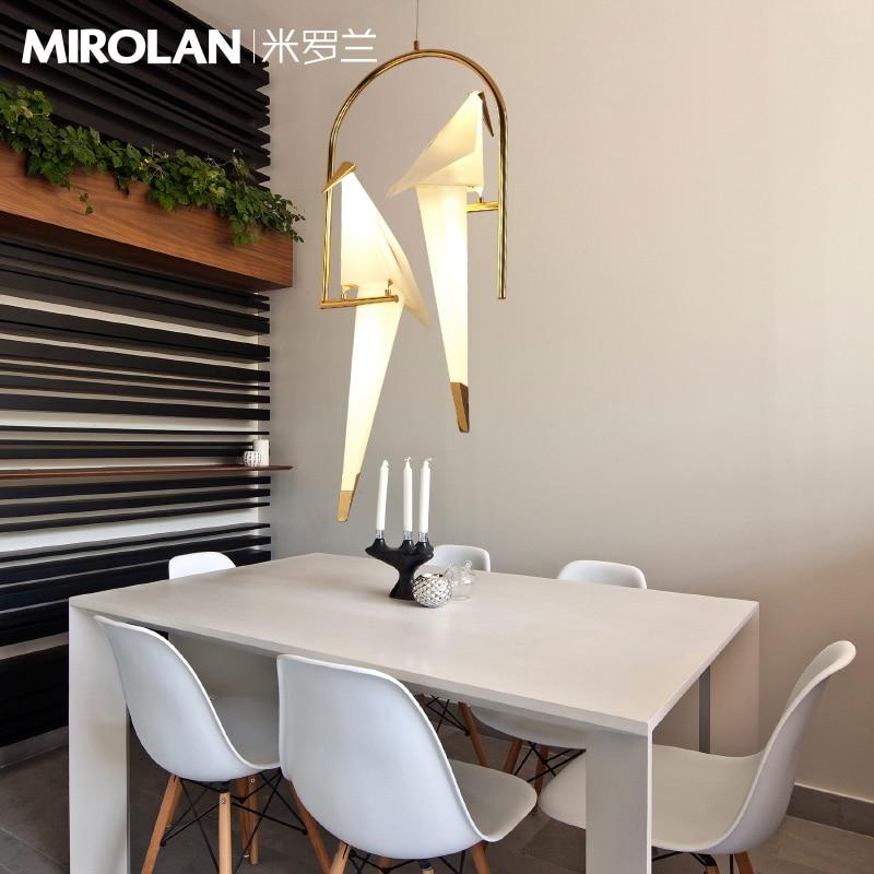 Modern LED chandelier Nordic living room suspended lamps ...