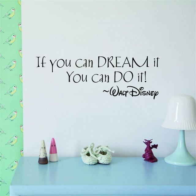 inspiration quote Dream It You Can Do It words home decor wall sticker classroom study room decoration mural art stickers