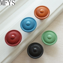 Colorful Knobs Kitchen Cabinet Dresser Handles Drawer Pulls Cupboard  Blue Orange Green Black Red