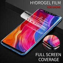 8D Full Cover Hydrogel Film For Xiaomi 9 8 Lite Mix 3 Max PocoPhone F1 Screen Protector Redmi Note 7 6 5 Pro
