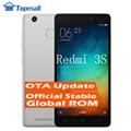 """Original xiaomi redmi 3 s 16 gb rom snapdragon telefone móvel 430 do telefone móvel 4100 mah bateria id de impressão digital 5.0 """"metal corpo"""